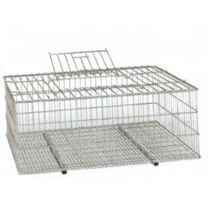 Jaula para transportar aves metal