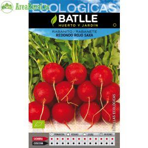 Rabanito redondo rojo Saxa ecologico