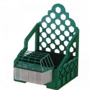 Soporte plástico jaula reclamo